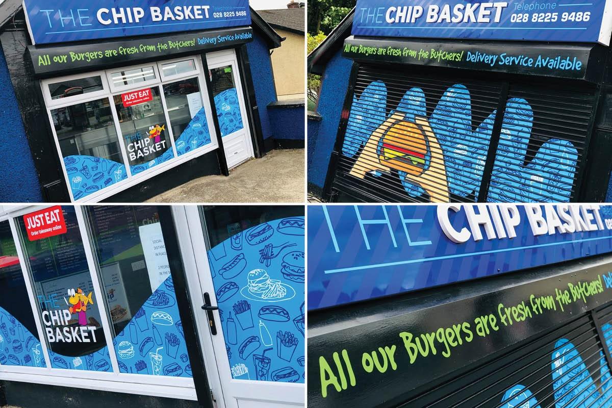 The Chip Basket Signage
