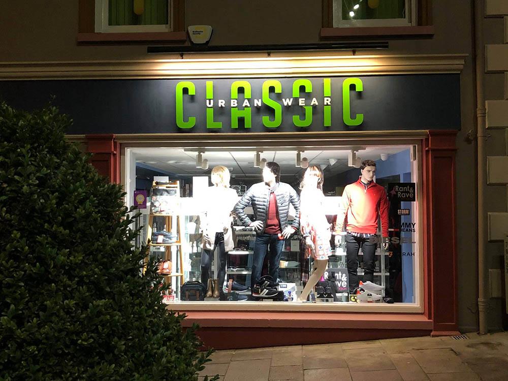 Classic Urbanwear Signage